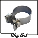 Stainless steel exhaust clamp for Ø 63.5mm / 2.5""